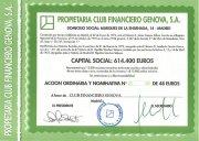 Vendo 4 acciones Club Financiero Genova CFG